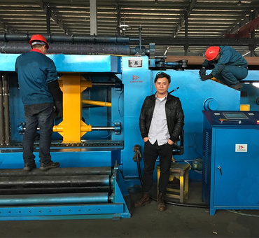corrugated pipe making machine