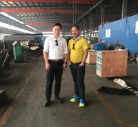 One Nepali team visited our gabion machine workshop today...